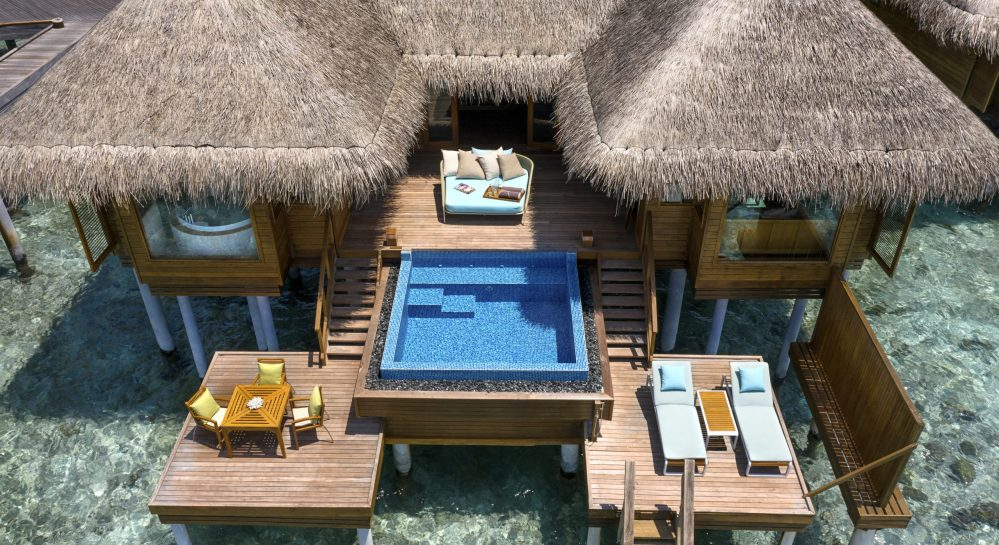 1 Huvafen Fushi Ocean Bungalow with Pool Ariel Front